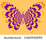 yellow and purple butterfly.... | Shutterstock .eps vector #1360940090