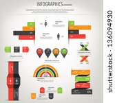 retro infographics set.... | Shutterstock .eps vector #136094930