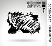 black brush stroke and...   Shutterstock .eps vector #1360955270