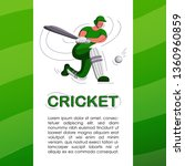 batsman playing cricket.... | Shutterstock .eps vector #1360960859