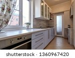Stock photo kitchen with appliances and a beautiful interior 1360967420