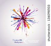 abstract hand drawn watercolor...   Shutterstock .eps vector #136098503