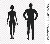 human silhouettes  vector... | Shutterstock .eps vector #1360989209