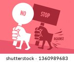 illustration of a demonstration ...   Shutterstock .eps vector #1360989683