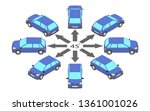 rotation of the hatchback by 45 ...   Shutterstock .eps vector #1361001026