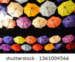 decorative colorful umbrellas ... | Shutterstock . vector #1361004566