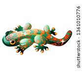decorative figurine in the form ... | Shutterstock .eps vector #1361010776