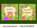 shirt summer prints variation... | Shutterstock .eps vector #1361034803