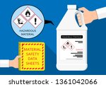 material safety data sheet... | Shutterstock .eps vector #1361042066