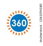 360 degrees logo design  vector | Shutterstock .eps vector #1361054180