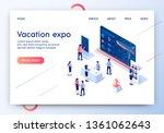 vacation expo horizontal banner....   Shutterstock .eps vector #1361062643