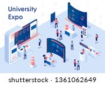university expo stands.... | Shutterstock .eps vector #1361062649