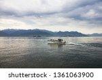 stresa  italy. tourist boat on... | Shutterstock . vector #1361063900