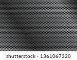 metal perforated background. 3d ... | Shutterstock . vector #1361067320