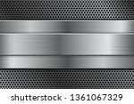 metal background with... | Shutterstock . vector #1361067329