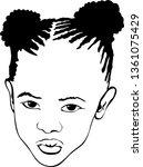 black girl with dreadlocks... | Shutterstock .eps vector #1361075429
