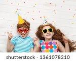 happy children on carnival...   Shutterstock . vector #1361078210