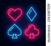 card suits  poker  blackjack ... | Shutterstock .eps vector #1361087339