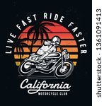 california motorcycle theme... | Shutterstock .eps vector #1361091413