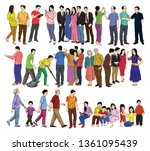 human or people  figures set  | Shutterstock .eps vector #1361095439