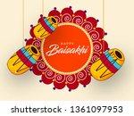 happy baisakhi design  vector... | Shutterstock .eps vector #1361097953