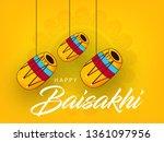 happy baisakhi design  vector... | Shutterstock .eps vector #1361097956