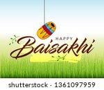 happy baisakhi design  vector... | Shutterstock .eps vector #1361097959