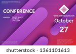 conference banner. announcement ... | Shutterstock .eps vector #1361101613
