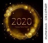 golden glow 2020 new year... | Shutterstock .eps vector #1361109689