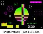 synthwave  cyberpunk sun ... | Shutterstock .eps vector #1361118536