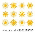 sun symbol collection. flat... | Shutterstock .eps vector #1361123030