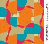 halftone color texture... | Shutterstock .eps vector #1361126246
