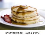 Pancake stack with Syrup - stock photo
