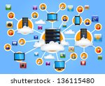 illustration of network  eps 10 ... | Shutterstock .eps vector #136115480