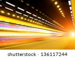 abstract car in the tunnel... | Shutterstock . vector #136117244