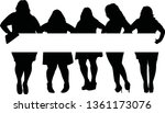 group of afro woman vector | Shutterstock .eps vector #1361173076