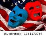 politics is just a theater ... | Shutterstock . vector #1361173769