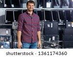 smiling attractive man in... | Shutterstock . vector #1361174360