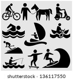 sport and recreation icons | Shutterstock .eps vector #136117550