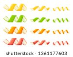 twisted peel of lemon ... | Shutterstock .eps vector #1361177603