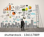 businessman looking plan... | Shutterstock . vector #136117889