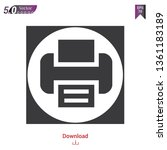 printer icon flat symbol vector ...