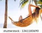 young beautiful blonde... | Shutterstock . vector #1361183690