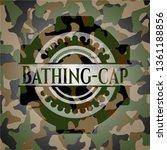 bathing cap on camouflage... | Shutterstock .eps vector #1361188856
