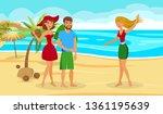 exotic summer vacation flat... | Shutterstock .eps vector #1361195639