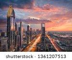 Skyscrapers Of Dubai Downtown...