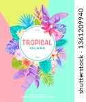 tropical hawaiian design with... | Shutterstock .eps vector #1361209940