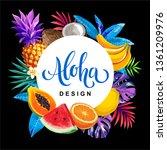 tropical hawaiian design with... | Shutterstock .eps vector #1361209976
