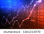 stock market or forex trading... | Shutterstock . vector #1361213570