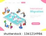 isometric flat vector landing...   Shutterstock .eps vector #1361214986